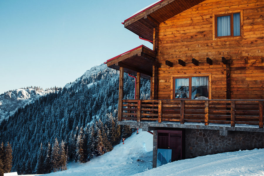 Secondary Home Insurance - Home in the Snow and Mountains